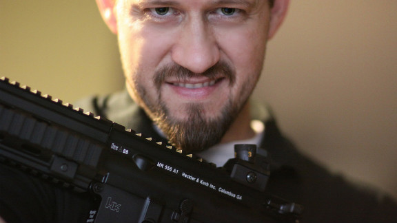 """""""Every month or so I take my guns out to the range and shoot,"""" says iReporter Christopher L. Kirkman, who owns a Heckler and Koch MR556A1. """"It"""