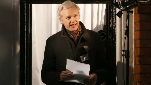 WikiLeaks founder Julian Assange speaks from the Ecuadorian Embassy