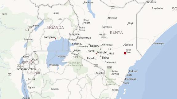 Map: Tana River, Kenya
