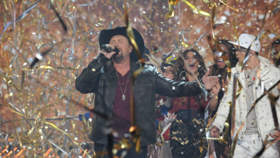 """""""X Factor"""" season two winner Tate Stevens performs during show's finale."""