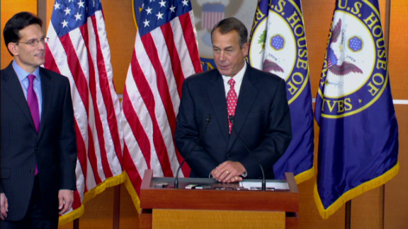 John Boehner and Eric Cantor, the House GOP leaders