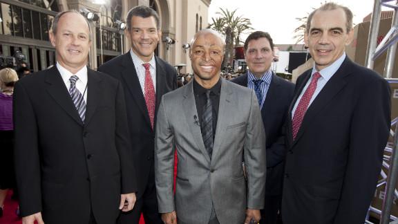 From left, Walton, Mark Whitaker, J.R. Martinez, Greg D