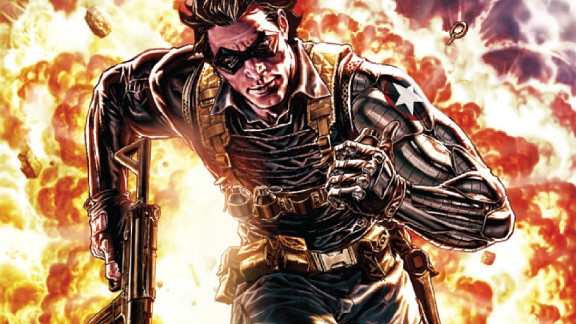 """Captain America's sidekick Bucky Barnes died near the end of World War II. But that didn't stop Marvel Comics from bringing him back as an almost-unrecognizable character named Winter Soldier (the subtitle of the second """"Captain America"""" movie)."""