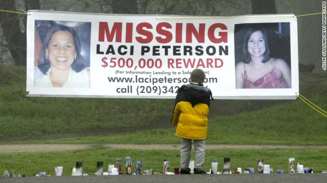 Laci Peterson went missing on Christmas Eve in 2002.