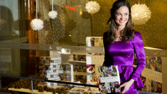 Pippa Middleton, the sister of the Duchess of Cambridge, promotes the Dutch edition of her book