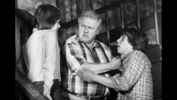"""Robby Benson, right,  tries to convince Durning, middle, that he's innocent while Linda Grovenor, left, vouches for him in 1980's """"Die Laughing."""""""