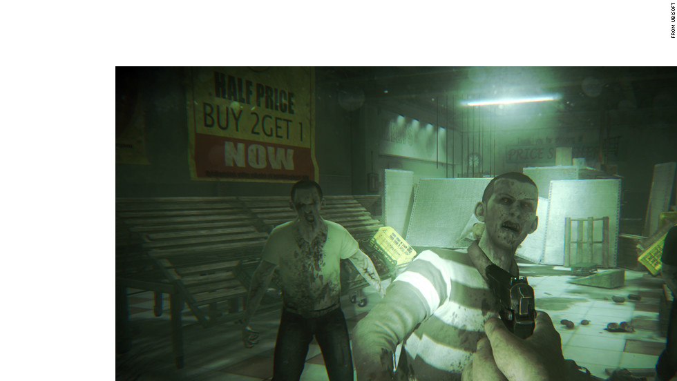 "Zombies overrun a supermarket in this scene from ""ZombiU,"" a dark tale of survival during a zombie outbreak in London."