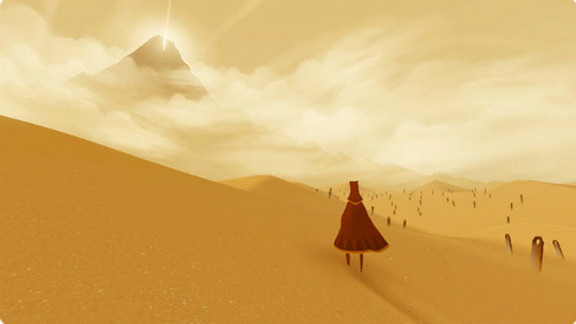 """Without a word of dialogue, """"Journey"""" transports players to a magical land where discovery is the object of the game."""