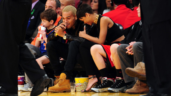 Rihanna and Chris Brown attended an NBA game in Los Angeles on Christmas.