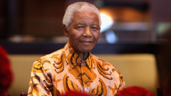 Nelson Mandela at a lunch to Benefit the Mandela Children's Foundation on April 3, 2009 in Cape Town, South Africa.