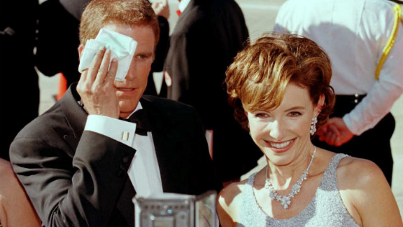 """Danson walks the red carpet at the Emmy Awards in 1996 with his wife Mary Steenburgen. The pair has co-starred in projects such as """"Ink,"""" """"Gulliver's Travels"""" and """"Curb Your Enthusiasm."""""""