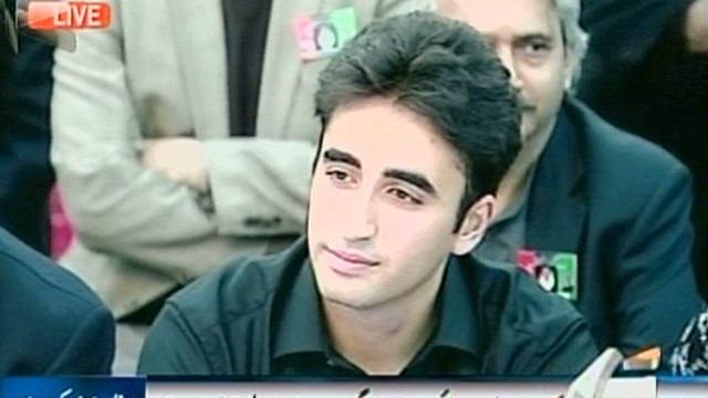 Bhutto's son makes political debut