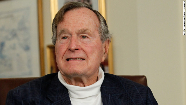 Former President George H.W. Bush has been hospitalized since November 23.