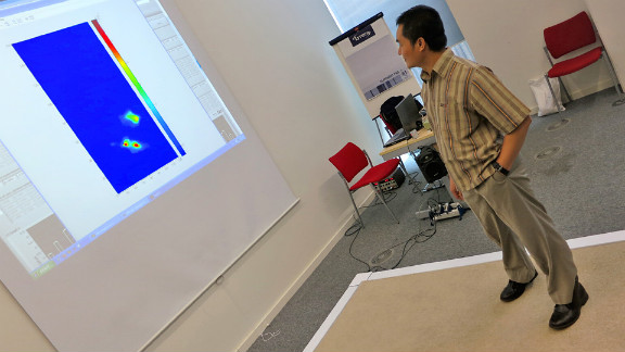 """Researchers at the University of Manchester in the UK designed a """"smart carpet"""" that can detect when a person has fallen and call for help."""