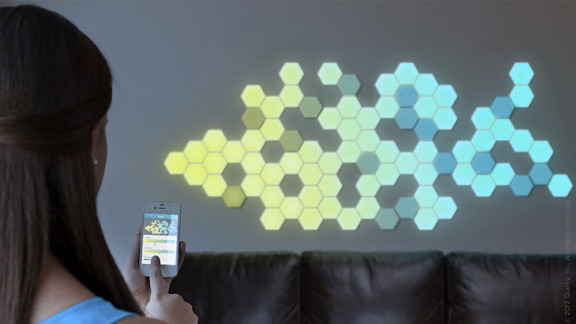 The modular lighting solution Wallbrights combines simple wall decals with LED lights that allow you to change the pattern and stick them just about anywhere in your home.
