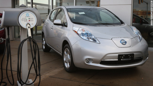 A study says accidents involving hybrid and electric vehicles like the Nissan Leaf call for special treatment.