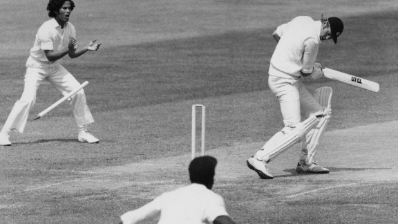 """Born in South Africa, he went on to captain England due to his Scottish father. In 1976 he was made to pay for comments that he would make the West Indies """"grovel"""" as the tourists unleashed a fearsome pace attack."""