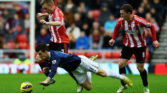 Tottenham went third with a 2-1 win at Sunderland but the victory was marred by Gareth Bale