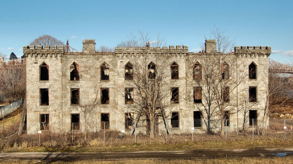 The abandoned Renwick Hospital on Roosevelt Island in New York City. A $4.5 million restoration project will open Renwick to the public in 2013