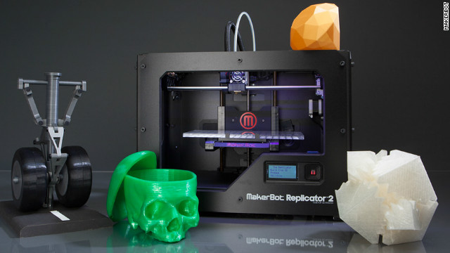 Consumers can own their own 3-D printer for the home, such as this MakerBot Replicator 2.