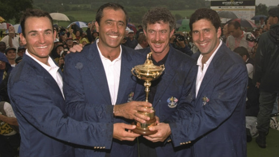 In 1997 Jimenez was assistant to team captain Seve Ballesteros as Europe retained the Ryder Cup at Spain