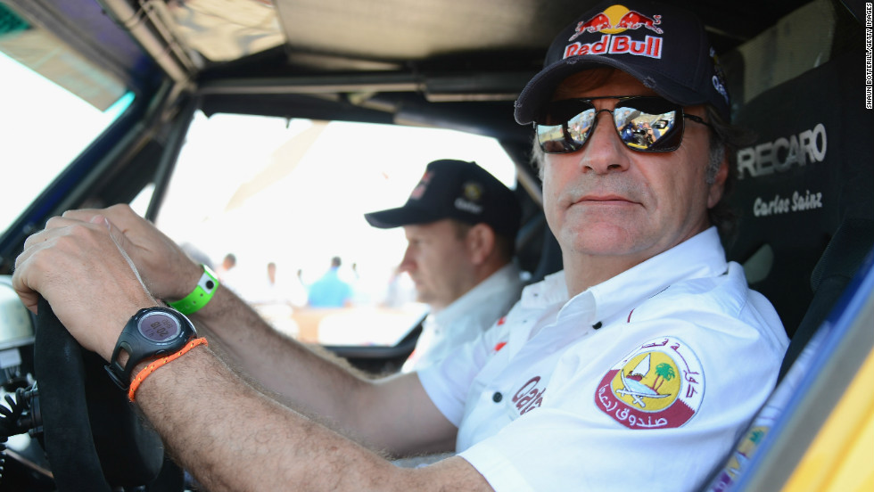 Sainz's father is a former world rally champion and still competing in the sport.