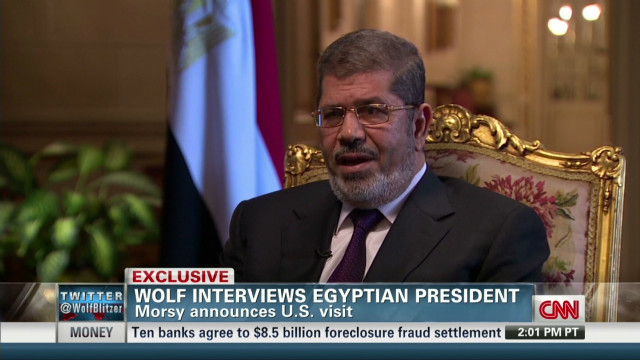 Morsy announces U.S. visit