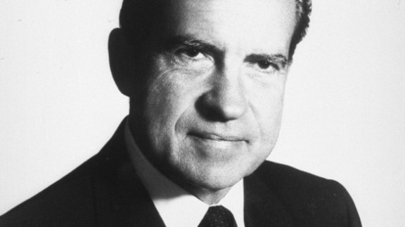 President Richard Nixon was in the White House from 1969 to 1974, when he became the first president to resign from office. He died at 81 in 1994. Here