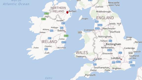 Map: Belfast, Northern Ireland