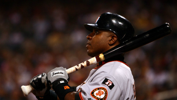Barry Bonds, shown in 2007 when he played for San Francisco, hit 762 home runs, but was passed over for the Hall of Fame.