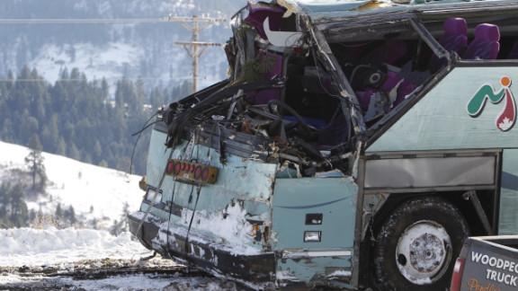 A tour bus crash in Oregon in December killed nine and injured 39.