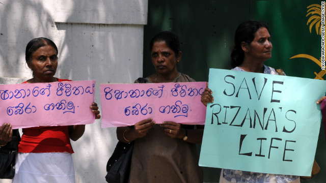 Why was Sri Lankan woman executed in Saudi Arabia?