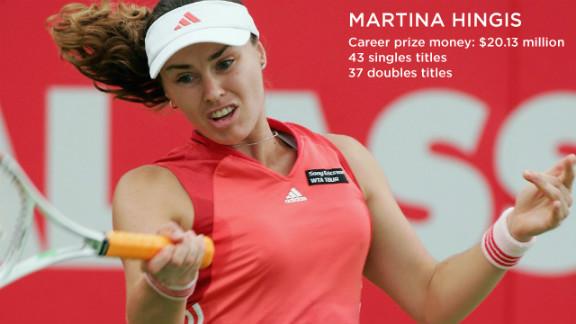 Martina Hingis won all of her five Grand Slams before she
