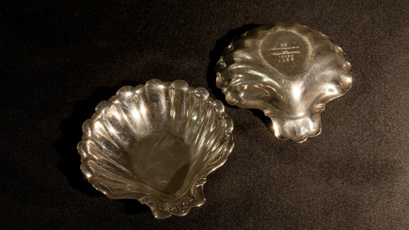 These shell-shaped nut dishes were used at the Waldorf