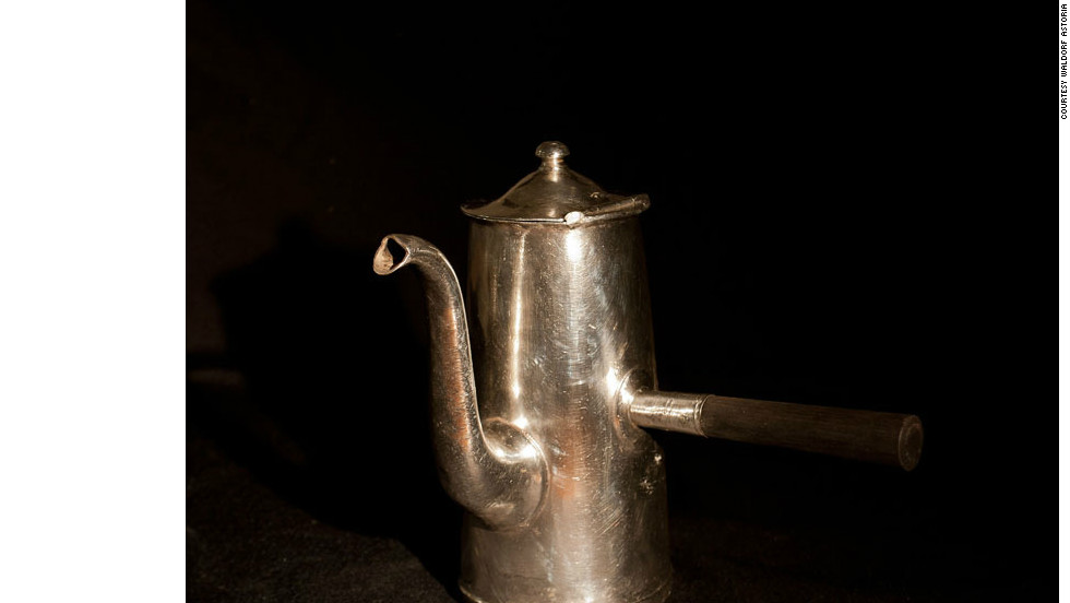 This unusual looking coffee pot is believed to have been taken by a newly married couple in the throes of their 1938 honeymoon. Having been passed down through the generations of family since, the item was returned by relatives in 2012.