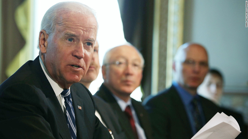 "Vice President Joe Biden on Tuesday will <a href=""http://www.cnn.com/2013/01/13/politics/gun-laws-battle/index.html"" target=""_blank"">offer a set of recommendations</a> to President Obama on how to curb gun violence. The Newtown school massacre spurred the president's creation of the federal task force."