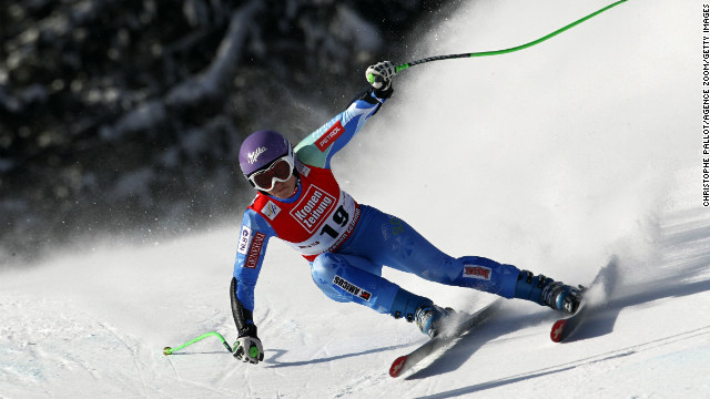 Slovenian skier Tina Maze won the World Cup women's Super G race at St. Anton on January 13.