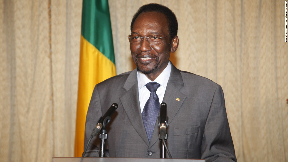 The interim president of Mali, Dioncounda Traore, speaks after a ministerial Cabinet meeting in Bamako on Friday, January 11. Malian authorities declared a state of emergency throughout the country on Friday as the army launched a counteroffensive against Islamists who were pushing south.