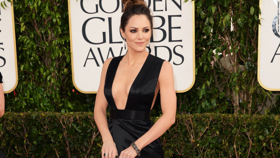 Katharine McPhee struck a modified version of the pose in this daring number.