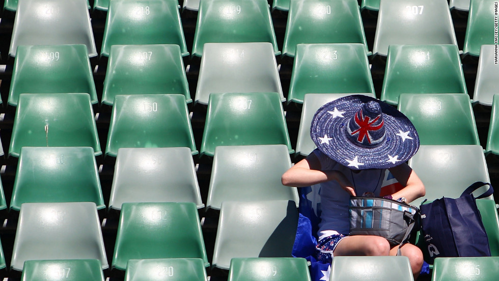 A fan gets ready for the Australian Open on January 15.