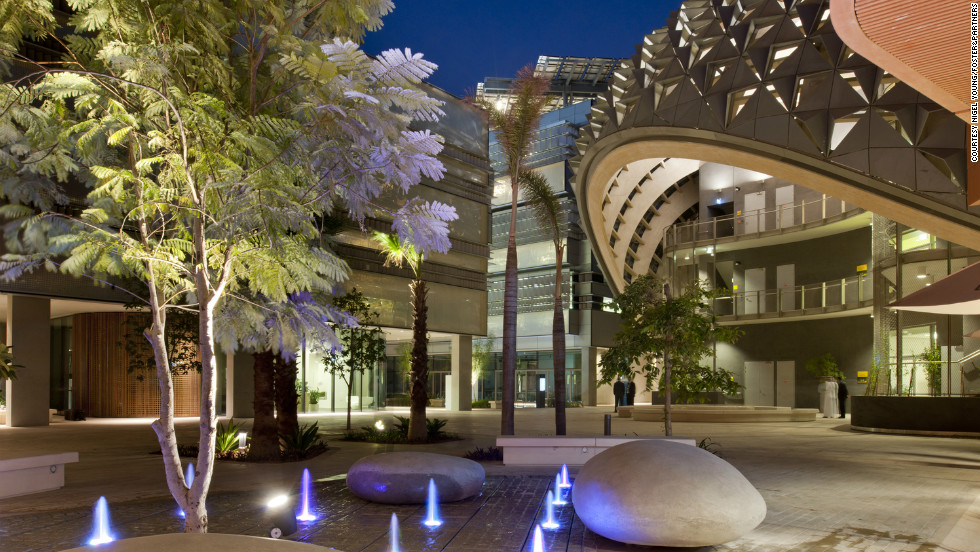 The Masdar Institute of Science and Technology, designed by British architects Foster + Partners, has a focus on teaching sustainable sciences.