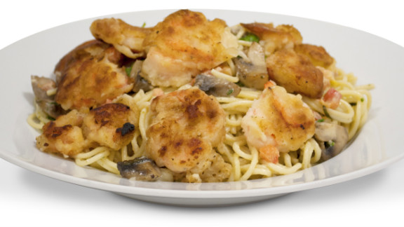 The Cheesecake Factory's bistro shrimp pasta has more calories than any other entree on the restaurant's menu. It totals 3,120 calories, 89 grams of saturated fat and 1,090 milligrams of sodium, according to the Center for Science in the Public Interest.
