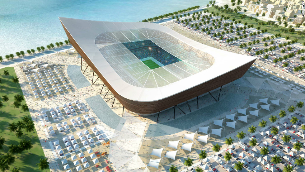 "Qatar will host the <a href=""http://www.fifa.com/worldcup/qatar2022/index.html"" target=""_blank"">2022 FIFA World Cup</a> and during the 2010 bid, the oil-rich country unveiled its stadium designs. This computer-generated image shows the planned Al-Shamal stadium. Its shape is based on the dhow, the traditional fishing boats used in the Gulf. To combat Qatar's very hot climate, the stadiums will be cooled using solar energy, according to architects <a href=""http://www.as-p.de/projects/mega-events/209909-bid-book-fifa-world-cup-2022-qatar.html"" target=""_blank"">AS&P</a>."
