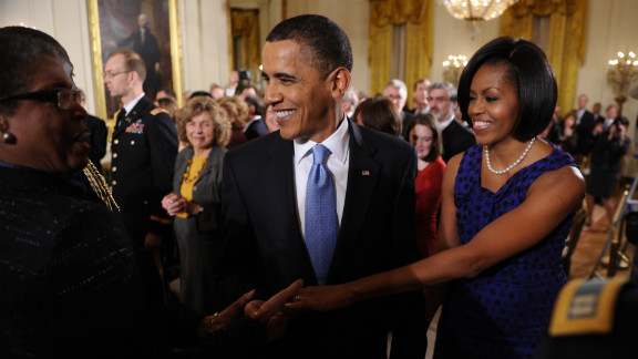 Obama transitioned from a daytime meeting with Mexico's first lady to an awards ceremony on February 25, 2010, wearing the same Jason Wu dress, according to the style blog Mrs. O.