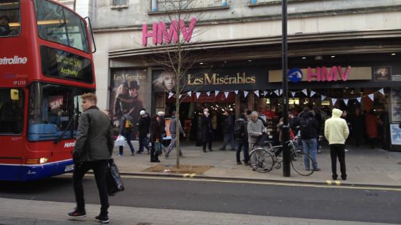 The HMV store on London