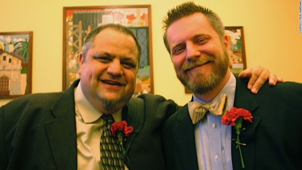 Steve Silberman and his husband, Keith, were united in a ceremony, and then legally married two years later.