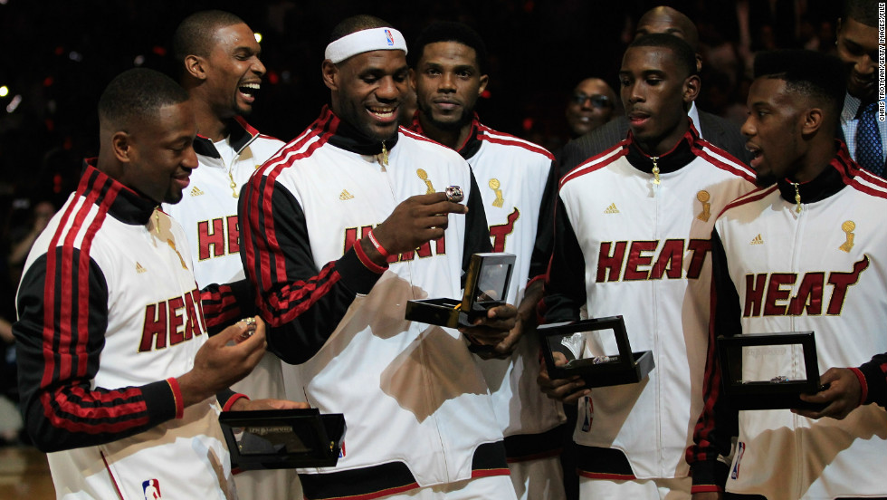 LeBron finally got his hands on a championship ring in 2012 when the Heat defeated Oklahoma City in the NBA finals. He was duly voted NBA Finals MVP, and season MVP for the third time.
