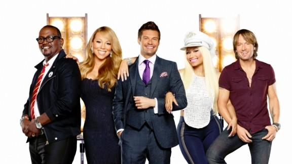 """Randy Jackson, Mariah Carey, Ryan Seacrest, Nicki Minaj and Keith Urban are the new """"Idol"""" crew this season."""
