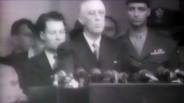 1945: FDR's simple inaugural ceremony