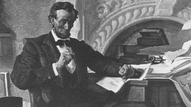 1865: Lincoln talks of 'sin of slavery'